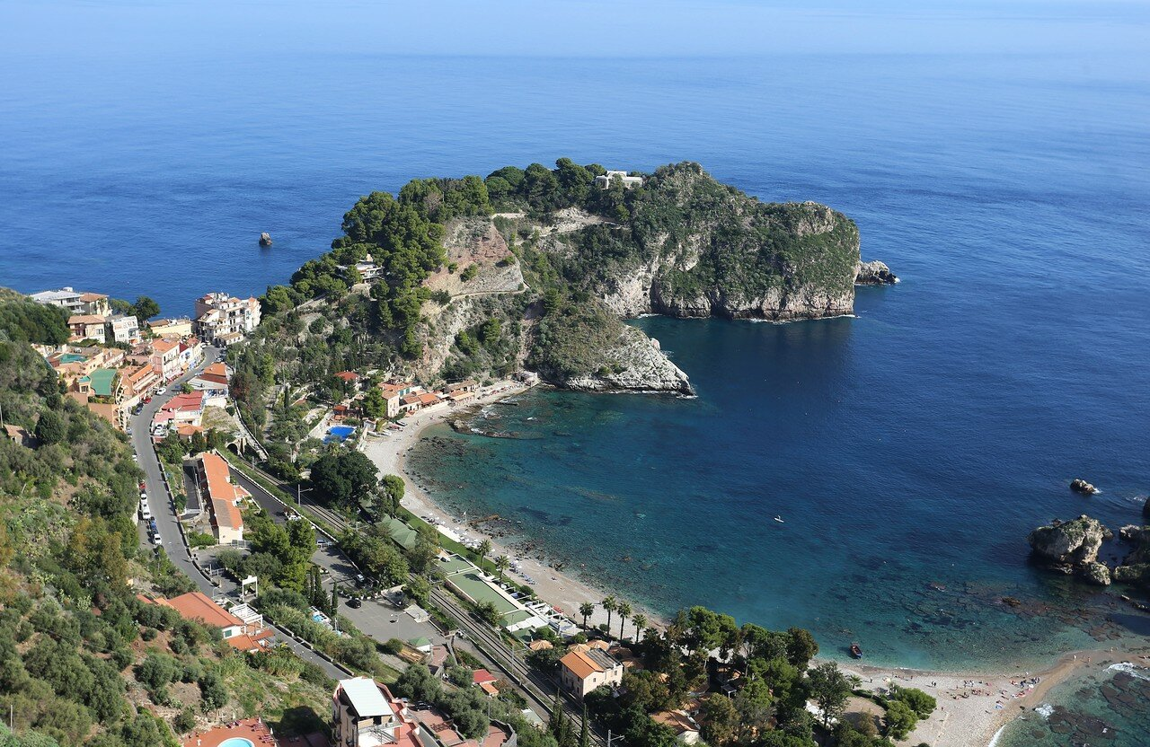 Taormina. View from the Belvedere observation deck