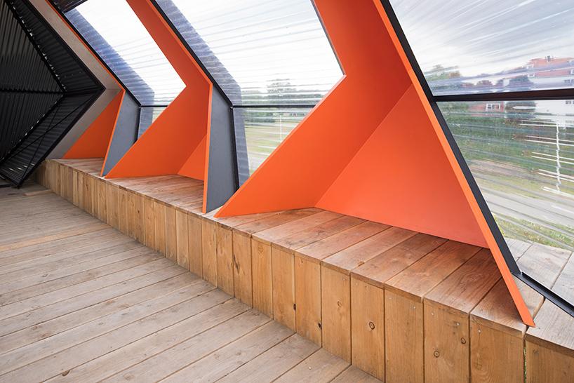 Павильон для дискуссий необычной формы в Голландии