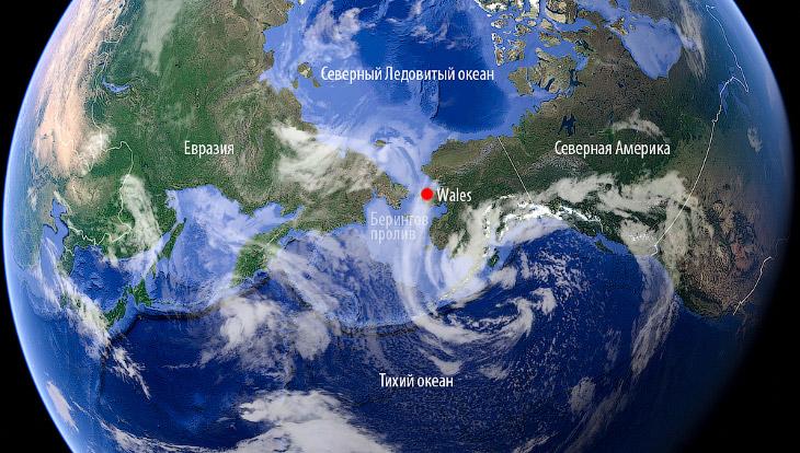 2. Чтобы оказаться здесь, сначала я прилетел на Аляску, потом в Ном (Nome) и уже оттуда малой авиаци