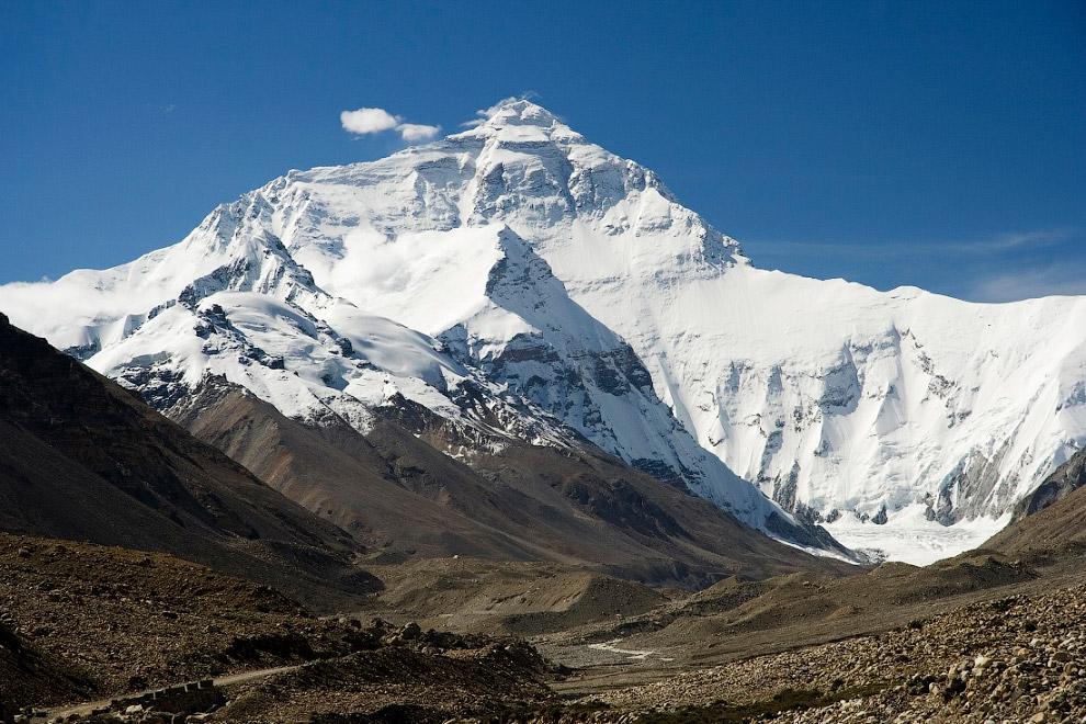 Английское название «Эверест» было дано в честь сэра Джорджа Эвереста руководителя геодезическо
