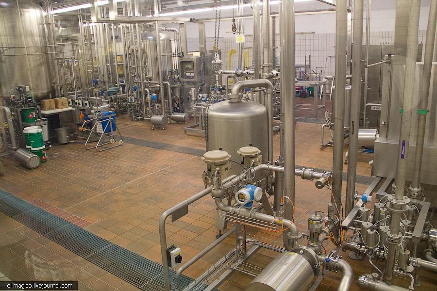 Конвейер. Пока мы наблюдали за работой техники, нам рассказали историю про безалкогольное пиво