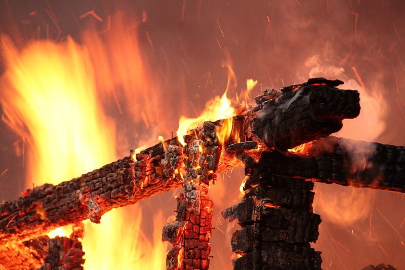 ВУфе дотла сгорели дом ибаня
