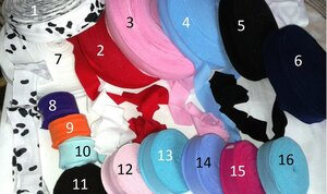 Трикотажная бейка рибана-ластик. Ширина 3-3,5см.   Цена 12р/м №1   цвет Долматинс , больше похожа на кулирку!  Цена на неё 10р/м. №2  цвет Красный , рибана- ластик №3 цвет Розовый , рибана- ластик №4 цвет Голубой , рибана- ластик №5 цвет Черный , рибана- ластик №6 цвет Темно-синий , рибана- ластик №7 цвет Белый , рибана- ластик