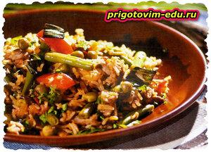 Рис с овощами по-бирмански