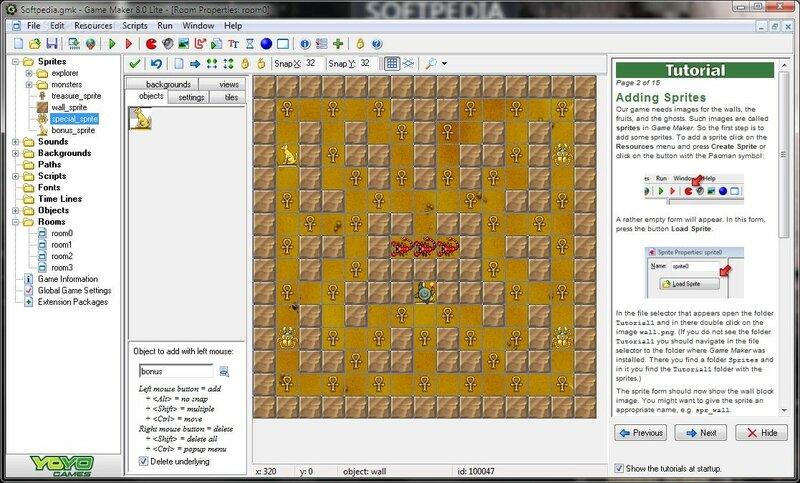 Самостоятельное создание игр с Game Maker— бесплатное приложение