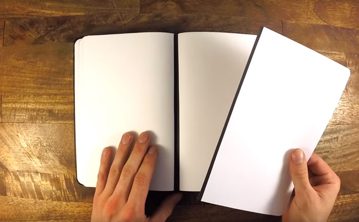 Notebook With Magnetic Spine to Remove And Reattach Pages (7 pics)