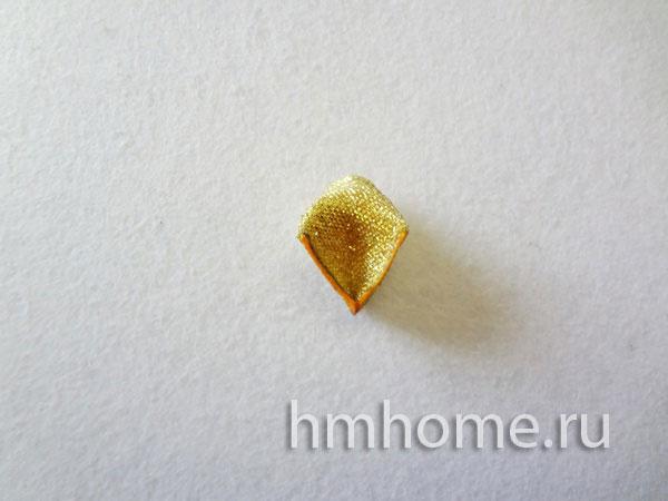 Кленовый лист канзаши. Мастер-класс с фото