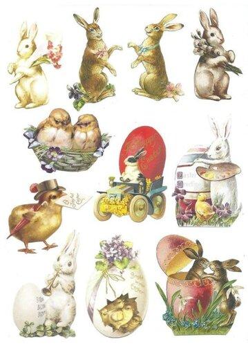 Декупажные карты для пасхальных яиц