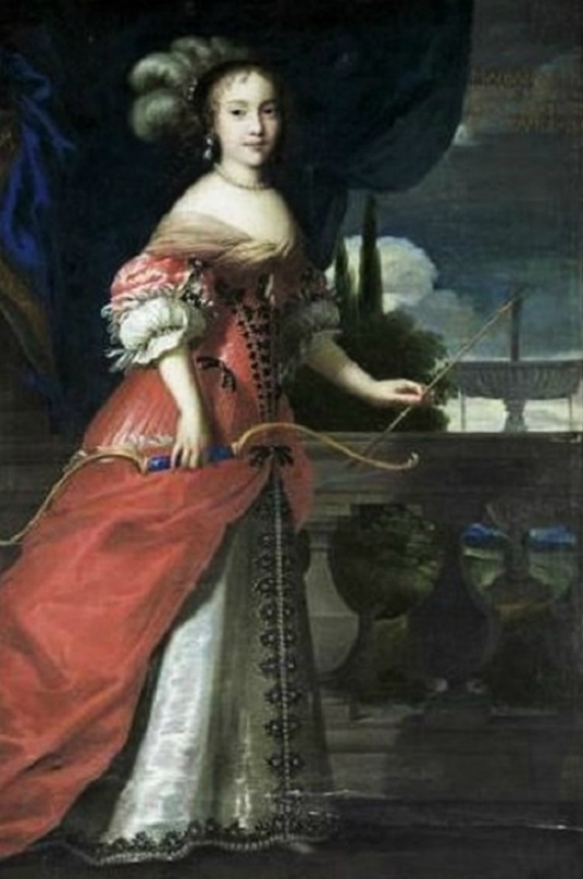 1654 Justus van Egmont (Dutch painter, 1601-1674) Marie Anne Mancini as Diana the Huntress,.jpg