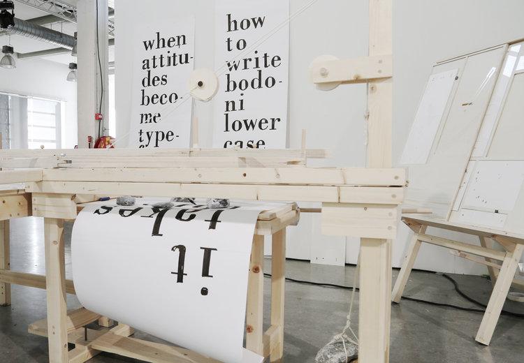 Hand-Writing Bodoni Machine
