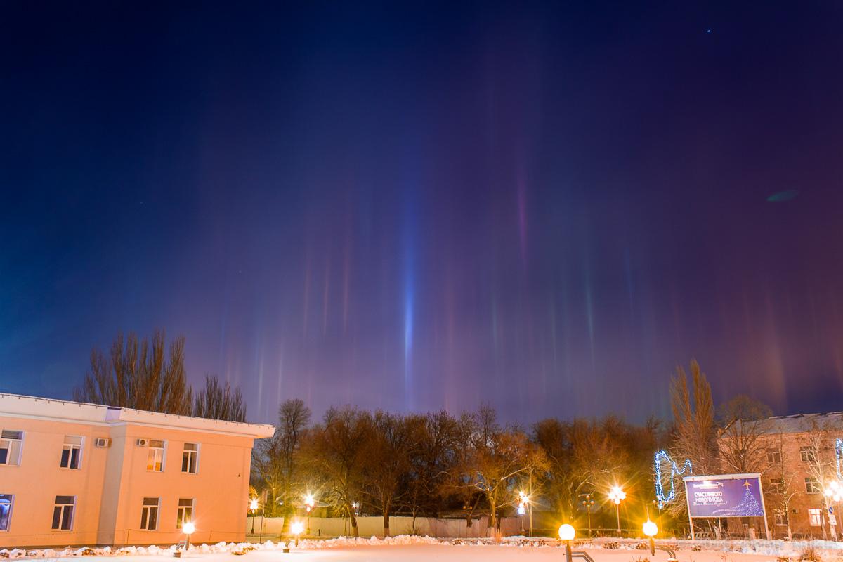 Световые столбы Саратов фото 1