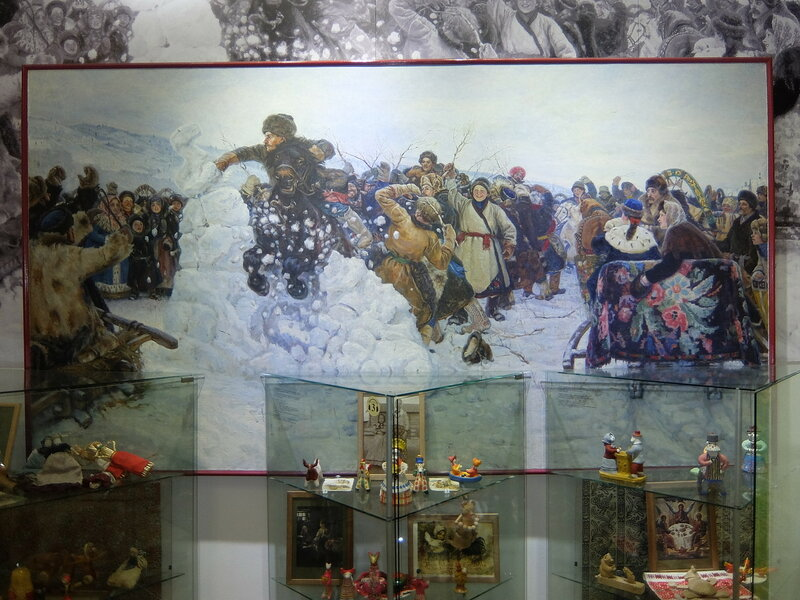 Красноярск - Картина Сурикова - Взятие снежного городка