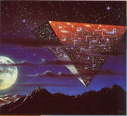 Пирамиды. Художник Д. Харди..jpg