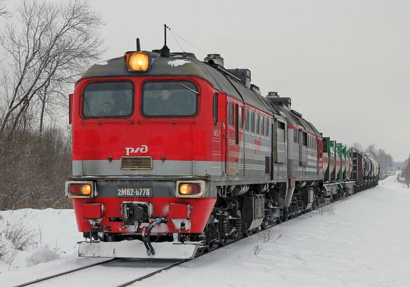 2М62-0778 на перегоне Ржев-Балтийский - Рождествено