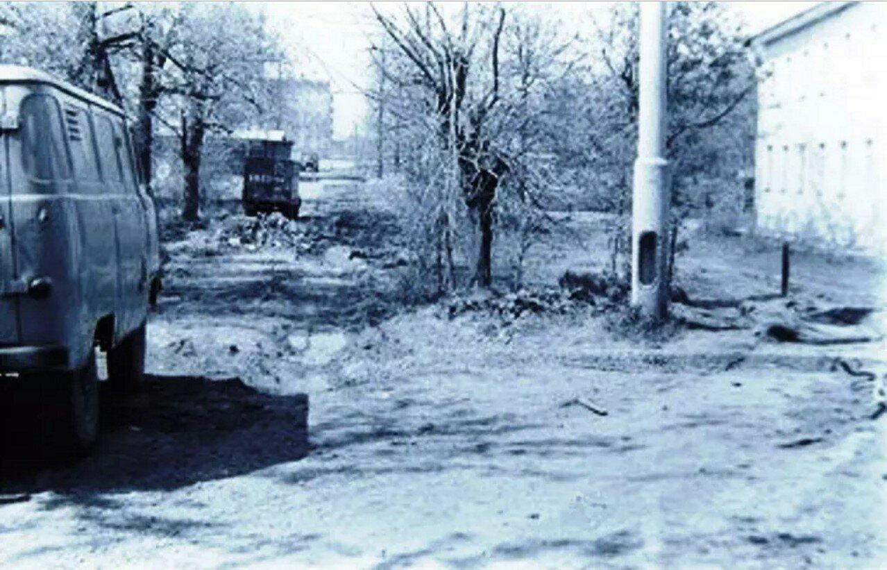 1973. Дорога от Дорожной улицы к Варшавскому шоссе