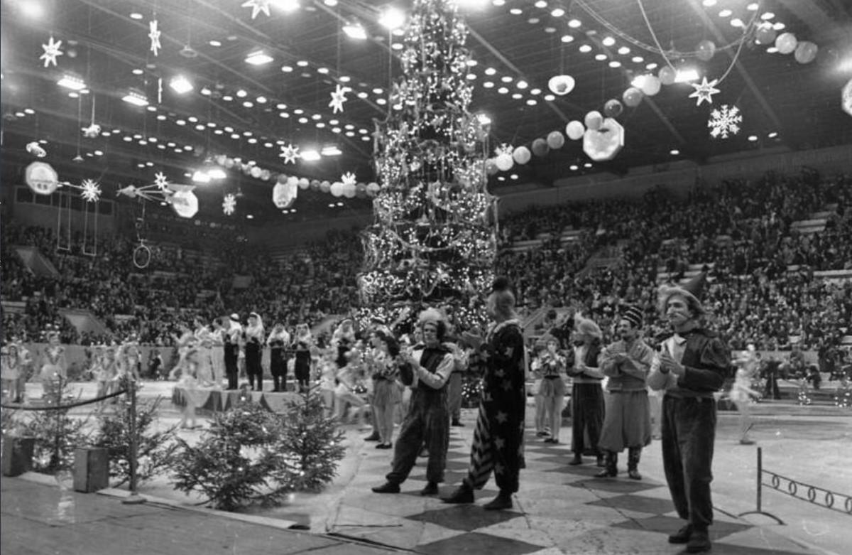 1958. Новогоднее представление во Дворце спорта в Лужниках