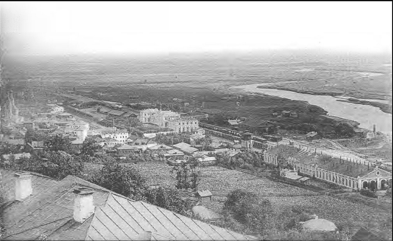 Вид на железнодорожный вокзал и пойму реки Клязьма. 1890