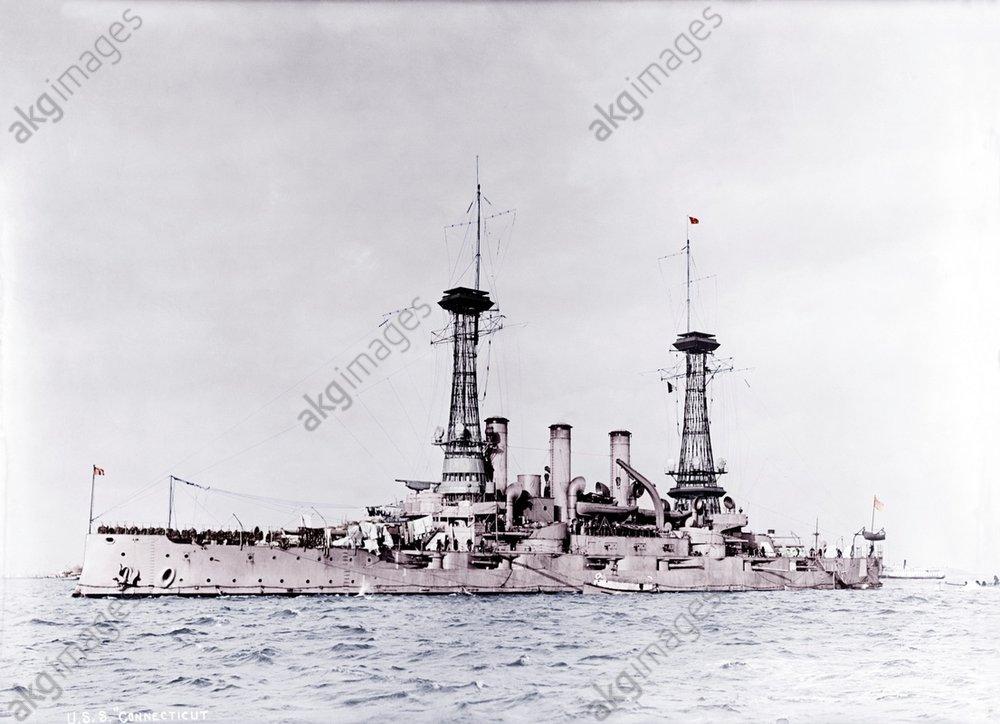 USA, Schlachtschiff 'Connecticut' 1916 - -