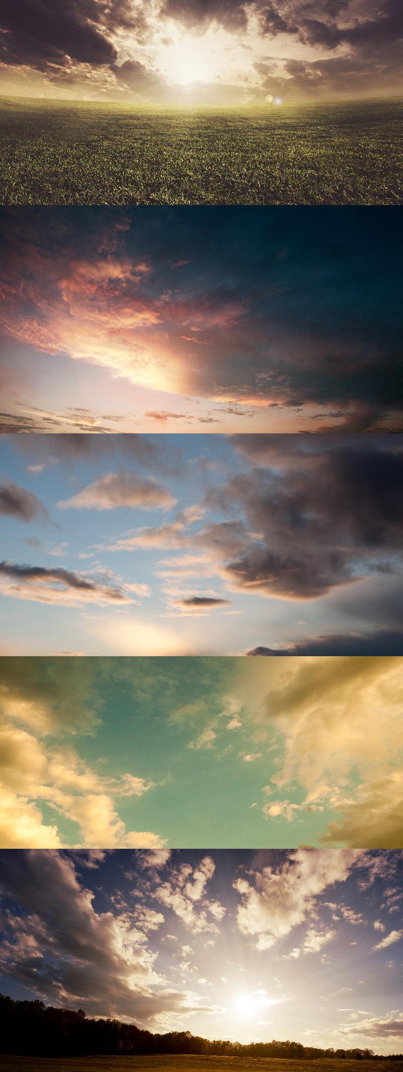 Небо, тучи, облака, закат