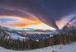 Закат в горах Архыза