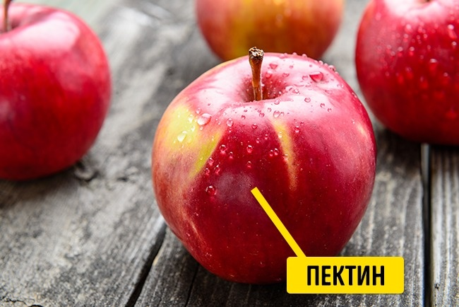 © depositphotos.com  Яблоки богаты пектином , аон необходим , чтобы очищать организм ивывод
