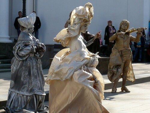 Живые скульптуры. Юморина в Одессе 2017г