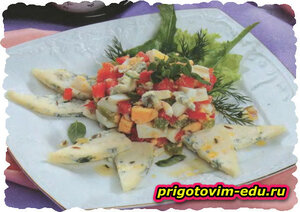 Яичный салат с рокфором