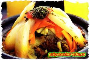 Марокканский тажин с мясом и овощами