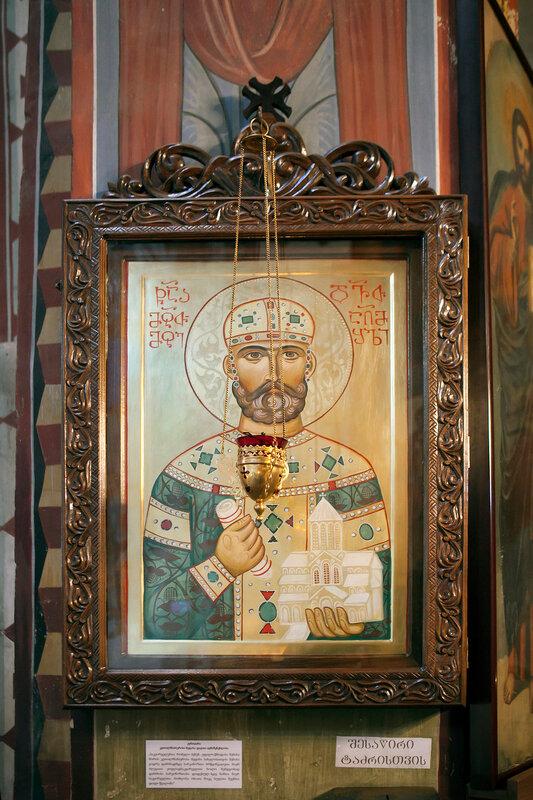 Georgia-Tbilisi.A little church is not far from the large church of Saint Trinity - Sameba.