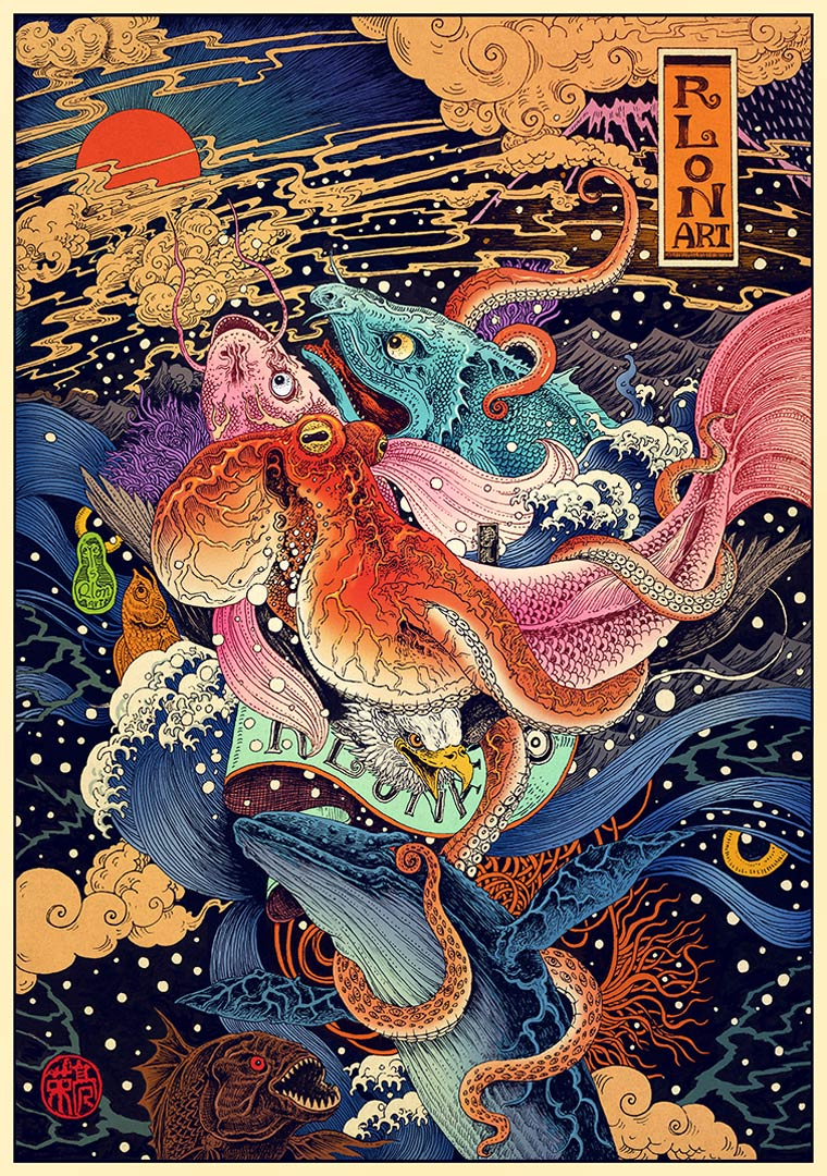 Impetuous World Life - Les magnifiques illustrations colorees de Rlon Wang