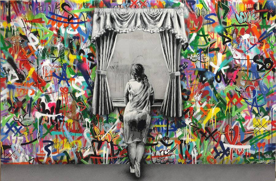Stencil & Graffiti Murals by Martin Whatson