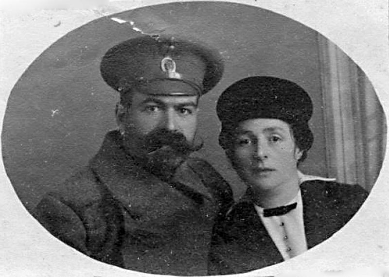Я.М.Юровский с женой М.Я.Юровской, 1916 г.