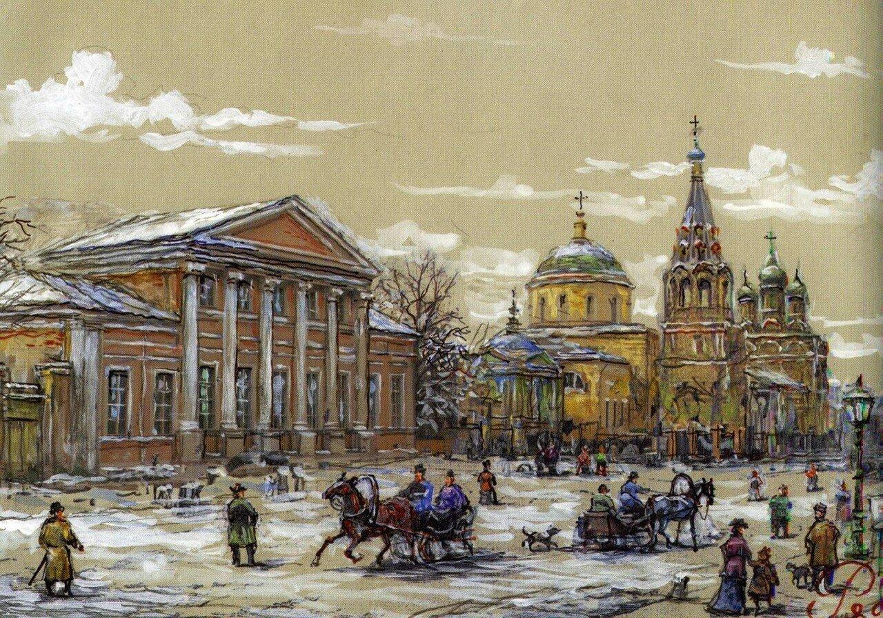 Малая Никитская улица в XIX в. Реконструкция В. А. Рябова..jpg