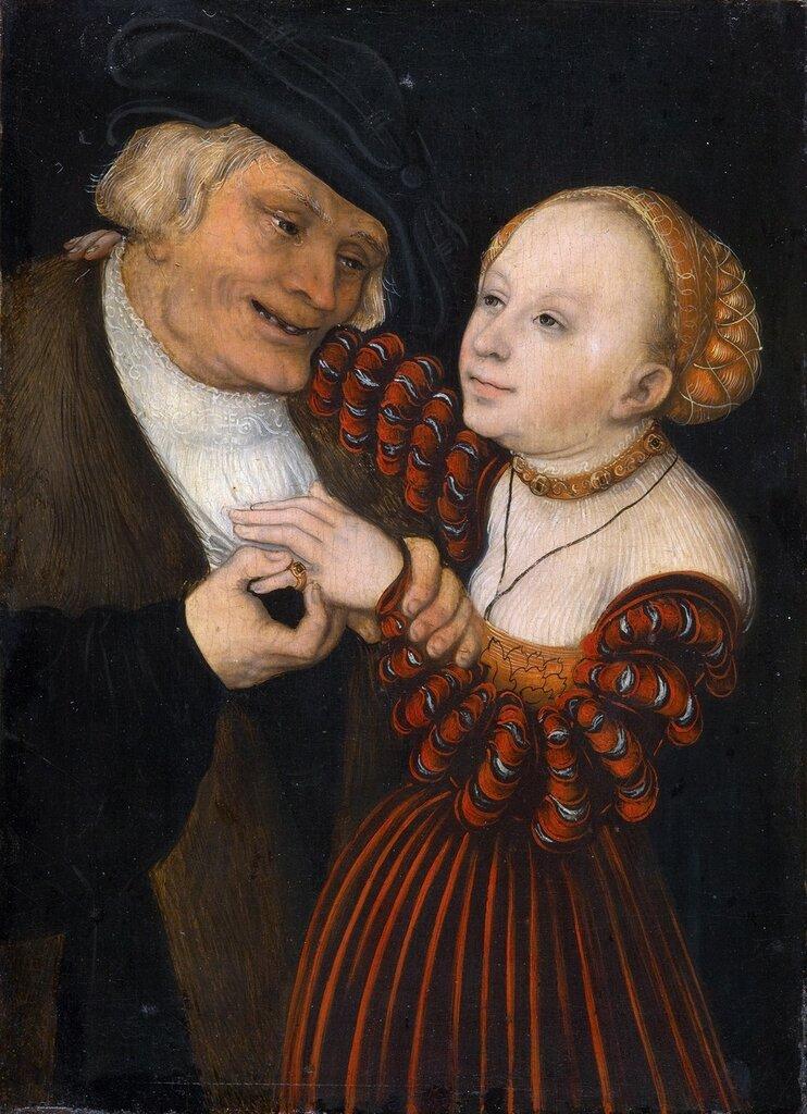 Влюблённый старик (The old man in love)_1530-1540_19.5 х 14.5_д.,м._Вена, Музей истории искусств.jpg