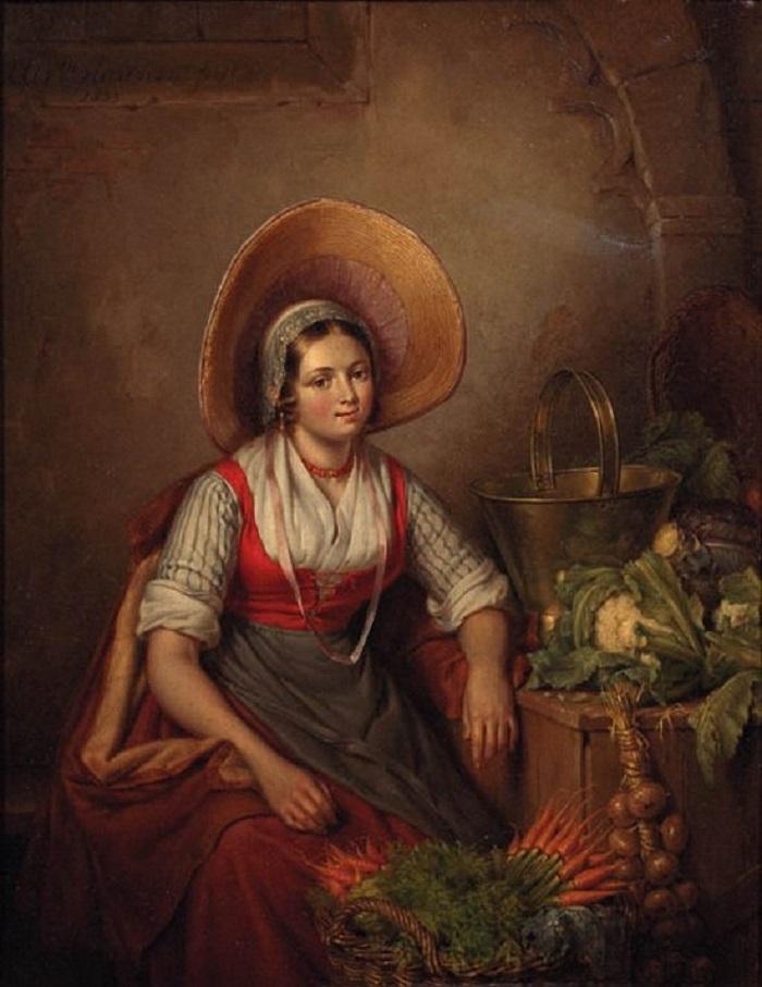 Elisabeth Alida Haanen The Vegetable Seller.