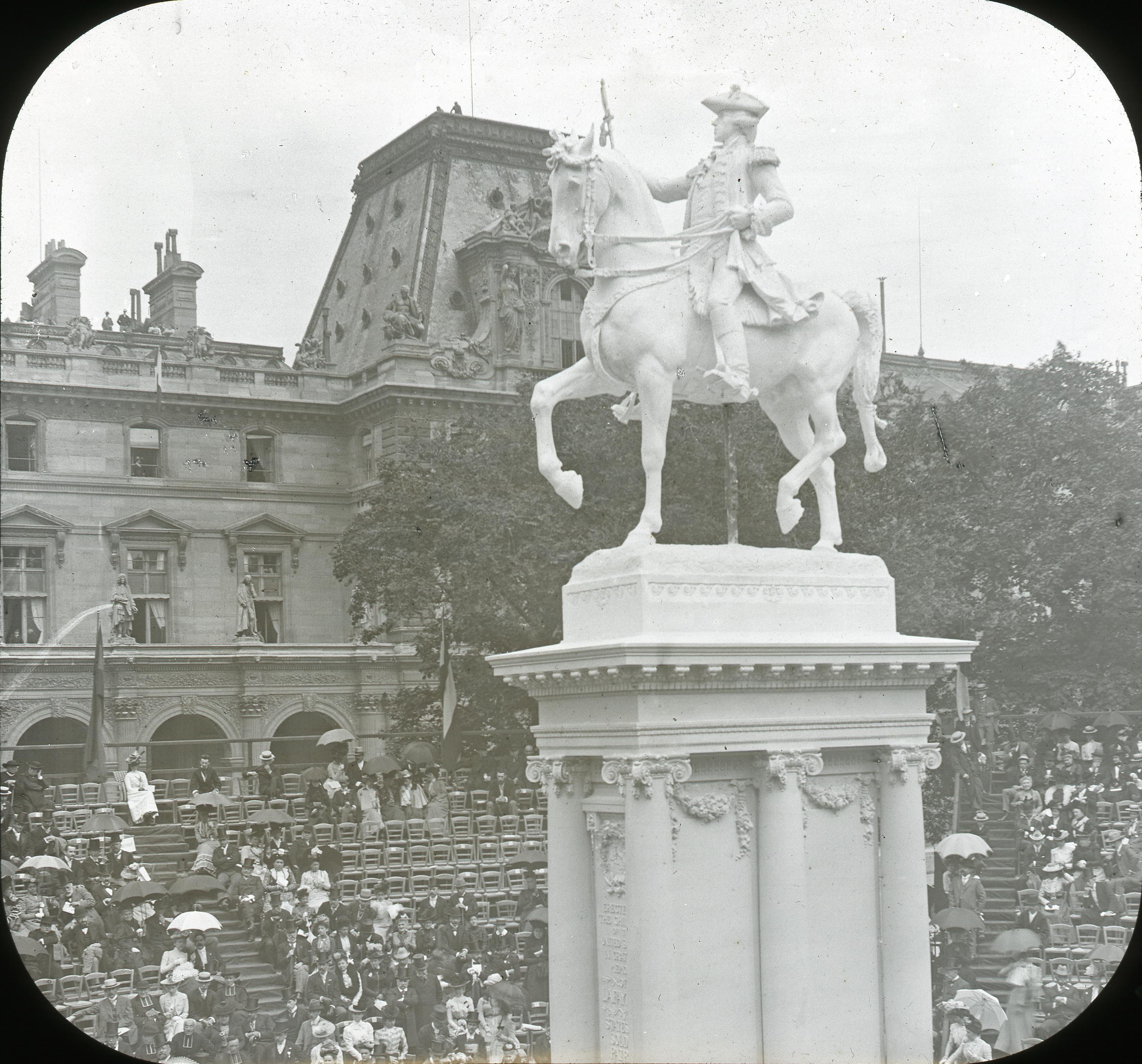 Конный памятник маркизу Лафайету. 4 июля 1900