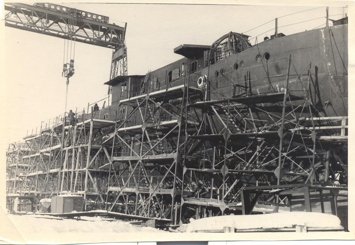 Строительство рыбопромыслового судна Днепр