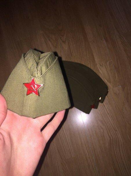 Пилотки солдатские военные 1941 года со звёздочкой 2.jpg