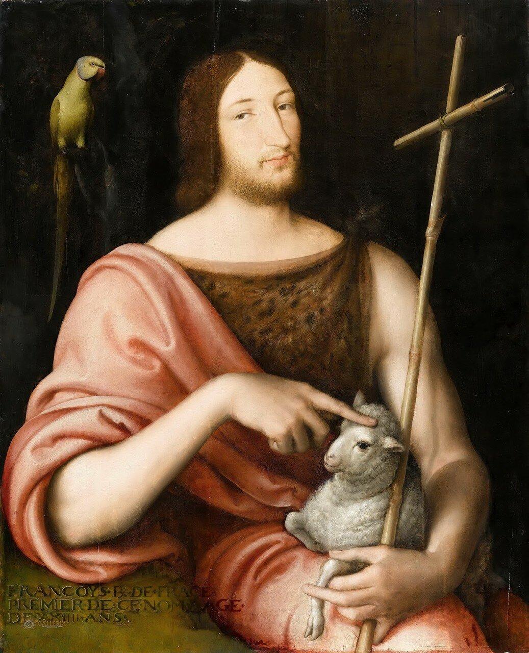 Король Франции Франциск I в образе Иоанна Крестителя_1518_96 х 79_д.,м._Париж, Лувр.jpg