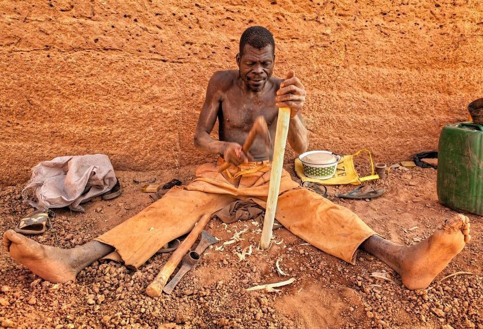 Необычный кирпичный карьер в Буркина-Фасо