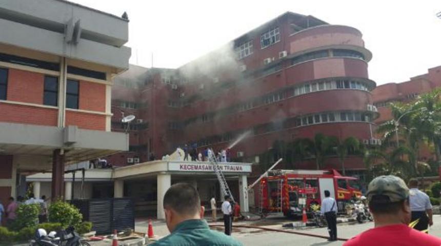 Пожар водной из клиник Малайзии: есть жертвы