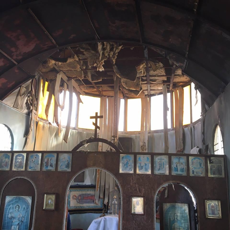 ВМариуполе неизвестные сожгли церковь