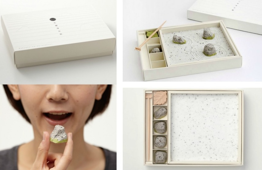 An Edible Zen Rock Garden Made From Japanese Sweets