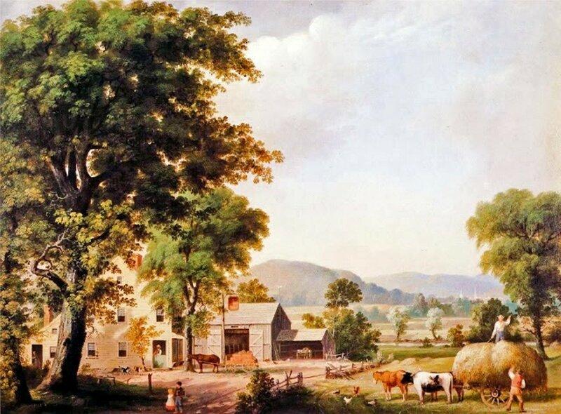 1 George Henry Durrie (American Painter, 1820-1863)  Haying at Jones Inn.JPG