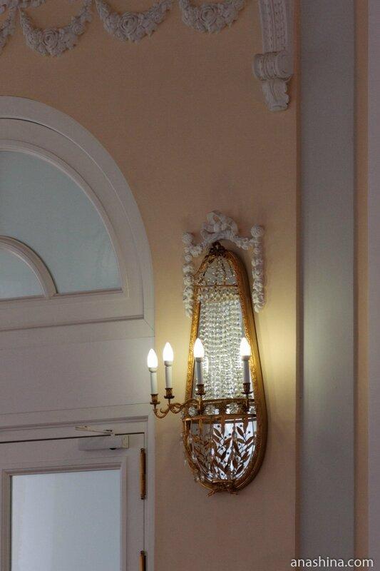Настенный светильник в Большом зале, Пашков дом