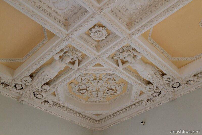 Деталь потолка Большого зала, дом Пашкова