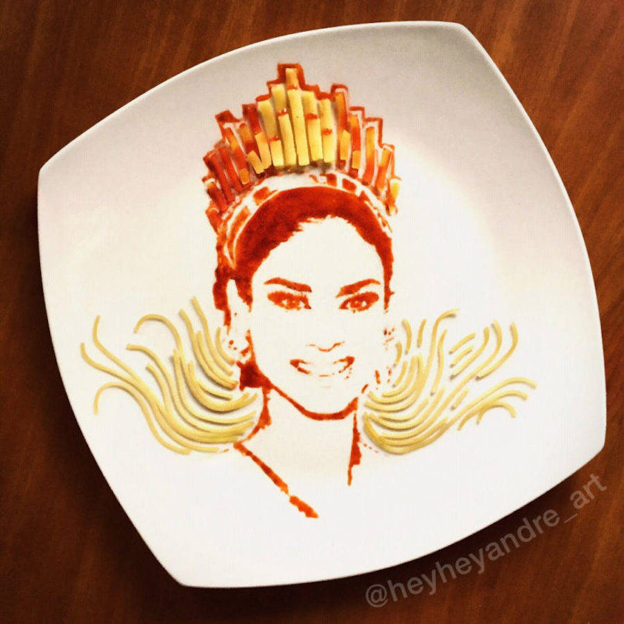 Accurate Portraits Created with Pasta