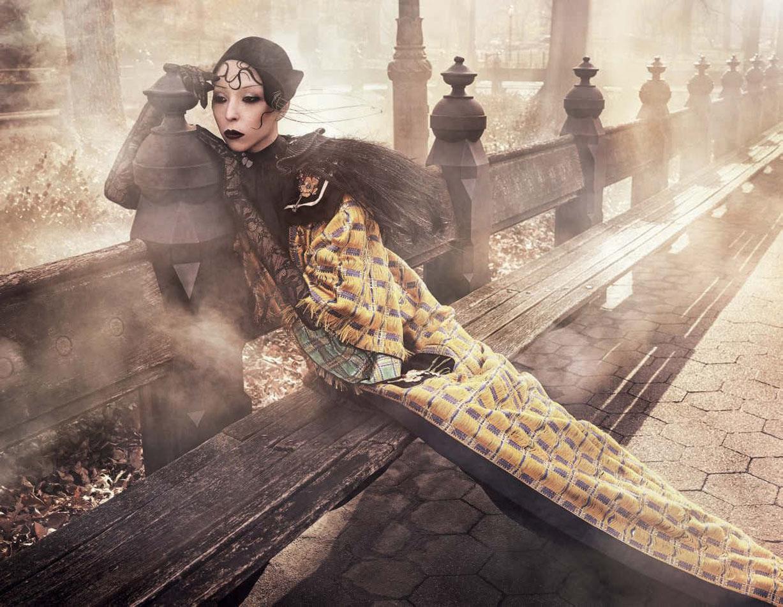 New York Lady - Issa Lish, Lia Pavlova, Zhenya Migovych by Luigi & Iango - Vogue Germany march 2017