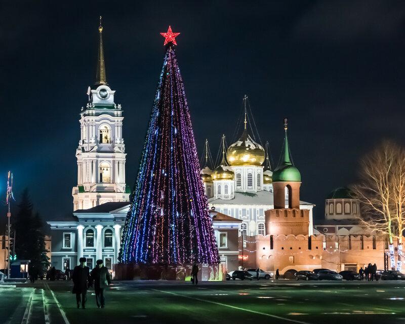 Тульская елка у Кремля