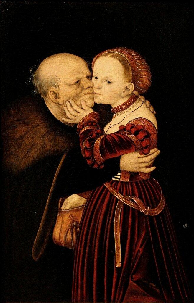 Куртизанка и старик - Старый дурак (Courtesan and old man - The old fool)_ок.1530_25 х 38_д.,м._Прага, Национальная галерея.jpg